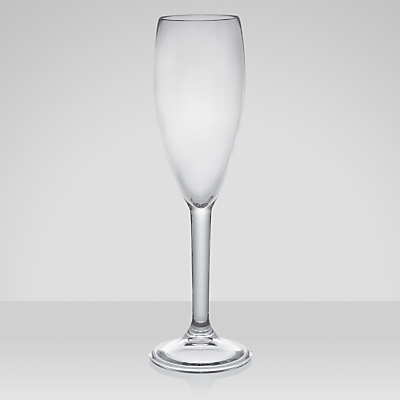 John Lewis Acrylic Champagne Flute, 0.18L, Set of 4