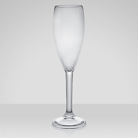 Buy John Lewis Acrylic Champagne Flute, 0.18L, Set of 4 Online at johnlewis.com