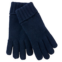 Buy John Lewis Chunky Knit Gloves, Navy Online at johnlewis.com