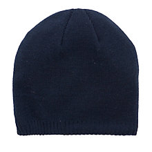 Buy John Lewis Unisex Chunky Knit Beanie, Navy Online at johnlewis.com