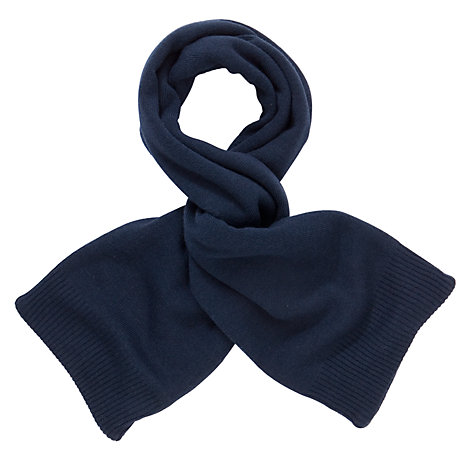 Buy John Lewis Chunky Knit Scarf, Navy Online at johnlewis.com