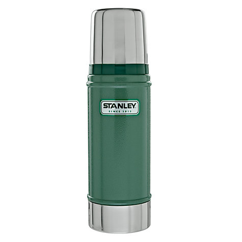 Buy Stanley Classic Vacuum Flask, Hammertone Green, 0.47L Online at johnlewis.com
