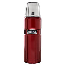 Buy Thermos Vintage Flask, Red, 470ml Online at johnlewis.com