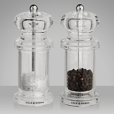 Image of Cole & Mason 505 Acrylic Salt and Pepper Set, 13cm