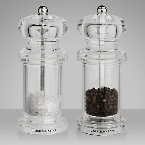 Buy Cole & Mason Acrylic Salt and Pepper Set, 13cm Online at johnlewis.com