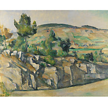 Buy Paul Cezanne- Hillside in Provence, Frameless Online at johnlewis.com