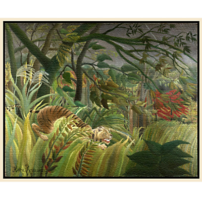 Henri Rousseau- Surprised (Tiger)