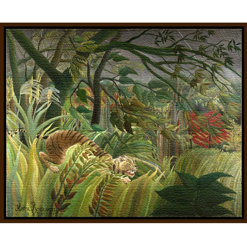 The National Gallery for John Lewis Henri Rousseau- Surprised (Tiger)
