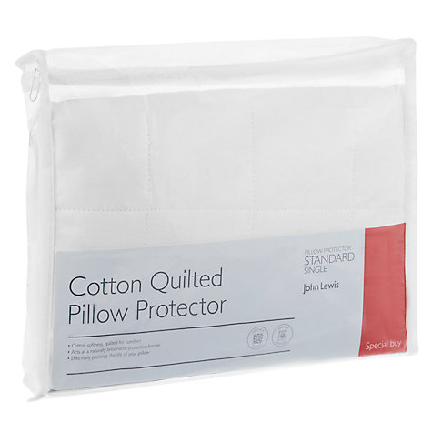 Buy John Lewis Quick Dry Quilted Pillow Protector Online at johnlewis.com