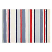 Buy little home at John Lewis, Ahoy There, Stripe Rug, Blue/Multi Online at johnlewis.com