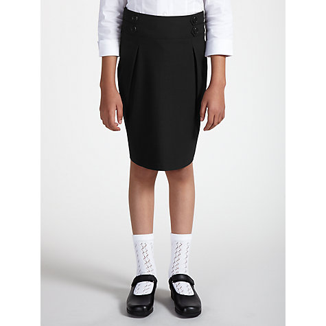 Buy John Lewis Girls' Pencil School Skirt, Black Online at johnlewis.com