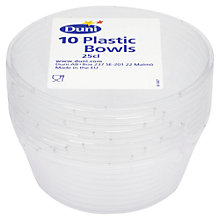 Buy Disposable Bowls, Clear, 10pcs Online at johnlewis.com