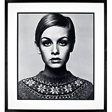 Buy Barry Lategan - Twiggy Framed Print, 75 x 83cm Online at johnlewis.com