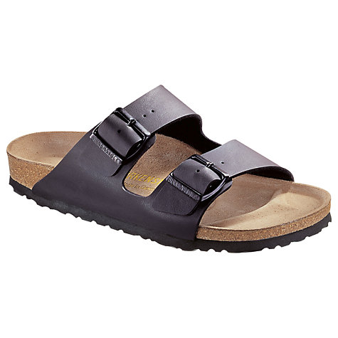 Buy Birkenstock Men's Arizona Birko Flor Sandals, Black Online at johnlewis.com