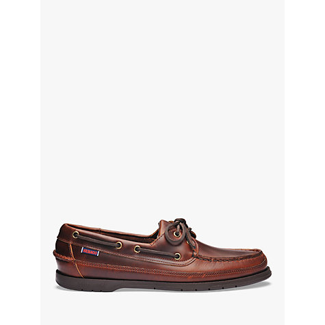 Buy Sebago Schooner Leather Boat Shoes, Brown Online at johnlewis.com