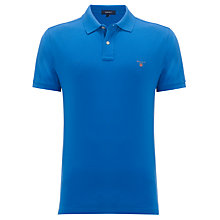Buy Gant Solid Heather Pique Polo Shirt Online at johnlewis.com