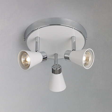 Buy John Lewis Logan 3 Spotlight Ceiling Plate Online at johnlewis.com