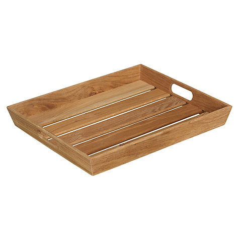 Buy John Lewis Coastal Slatted Tray Online at johnlewis.com