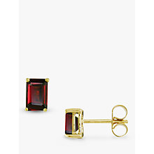 Buy EWA 9ct Yellow Gold Garnet Stud Earrings Online at johnlewis.com