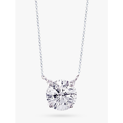 EWA 18ct White Gold Diamond Solitaire Pendant Necklace