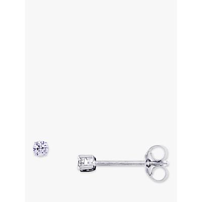 EWA 18ct White Gold Diamond Stud Earrings