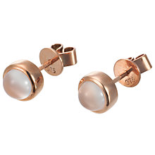 Buy London Road 9ct Rose Gold Moonstone Bubble Stud Earrings Online at johnlewis.com