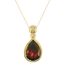Buy EWA 9ct Yellow Gold Bead Garnet Pendant Necklace Online at johnlewis.com