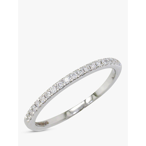 Buy EWA 18ct White Gold Diamond Claw Set Eternity Ring Online at johnlewis.com