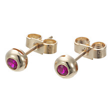 Buy EWA 9ct Yellow Gold Ruby Stud Earrings Online at johnlewis.com