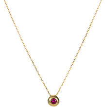Buy EWA 9ct Yellow Gold Ruby Slide Pendant Necklace Online at johnlewis.com