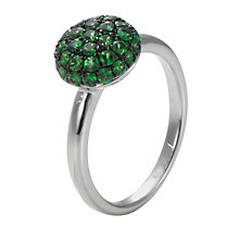 Buy London Road 9ct White Gold Tsavorite Bloomsbury Ball Ring Online at johnlewis.com