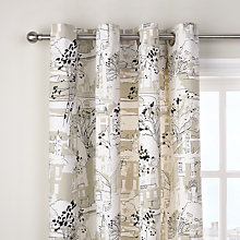 Buy John Lewis Brompton Road Linen Eyelet Curtains, Natural Online at johnlewis.com