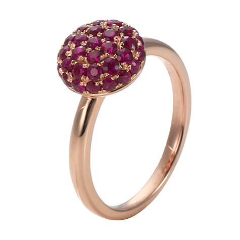 Buy London Road 9ct Rose Gold Ruby Burlington Ball Ring Online at johnlewis.com