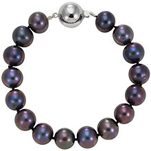 "Buy A B Davis 7"" Cultured Pearl Blueberry Knotted Bracelet Online at johnlewis.com"
