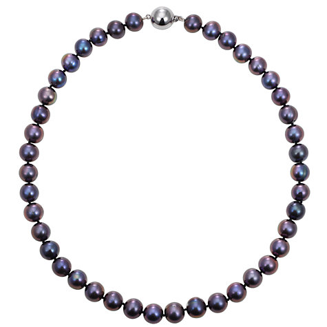 "Buy A B Davis 18"" Cultured Pearl Blueberry Knotted Necklace Online at johnlewis.com"