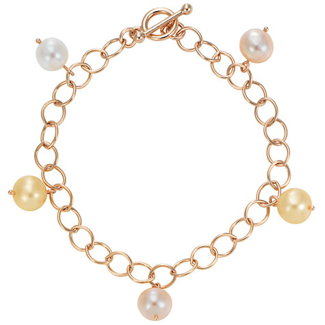 Buy London Road 9ct Rose Gold and Pastel Cultured Fresh Water Pearl Bracelet Online at johnlewis.com