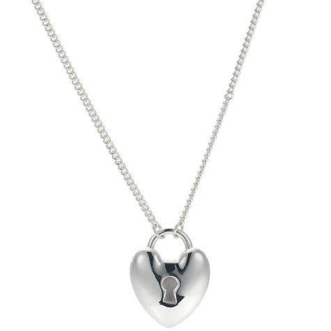 Buy Dinny Hall Heart Padlock Pendant on Long Chain Pendant Necklace Online at johnlewis.com