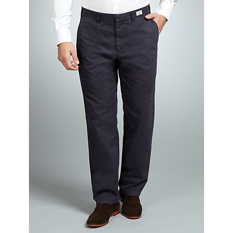 Buy Tommy Hilfiger Madison Twill Chinos, Midnight blue Online at johnlewis.com
