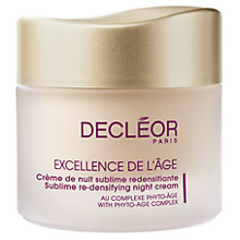 Buy Decléor Excellence de l'Âge Sublime Re-Densifying Night Cream, 50ml Online at johnlewis.com