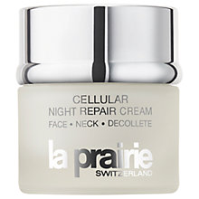 Buy La Prairie Cellular Night Repair Cream Face - Neck - Décolleté, 50ml Online at johnlewis.com