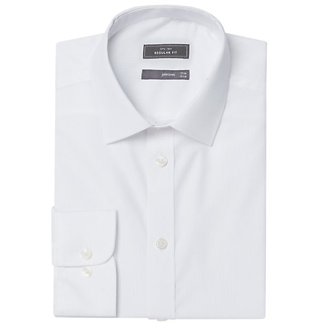 Buy John Lewis Easy Care Cotton Shirt, White Online at johnlewis.com