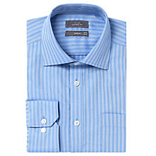 Buy John Lewis Herringbone Regular Fit Shirt, Blue Online at johnlewis.com