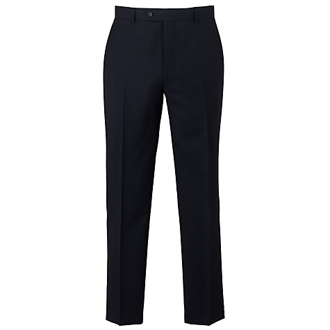 Buy Daniel Hechter Plain Organic Wool Trousers, Navy Online at johnlewis.com