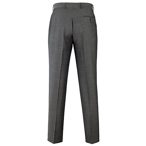 Buy Daniel Hechter Plain Organic Wool Trousers, Charcoal Online at johnlewis.com