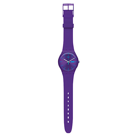 Buy Swatch SUOV702 Men's Rebel Round Dial Resin Strap Watch, Purple Online at johnlewis.com