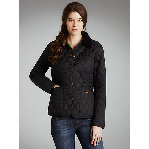 Buy Barbour Summer Liddesdale Quilted Jacket, Black Online at johnlewis.com