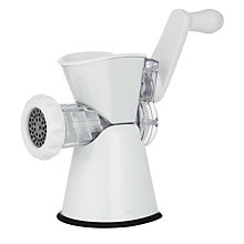 Buy John Lewis Plastic Mincer With Sausage Attachment Online at johnlewis.com