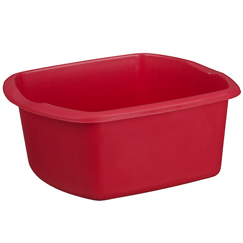 Buy John Lewis The Basics Plastic Rectangle Washing-Up Bowl, Red Online at johnlewis.com