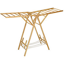 Buy John Lewis Wooden X Wing Indoor Clothes Airer Online at johnlewis.com