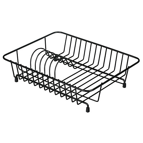 Buy John Lewis Compact Dish Drainer, Black Online at johnlewis.com